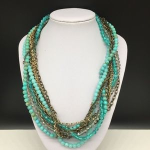 Ann Taylor Loft Turquoise Beaded Necklace